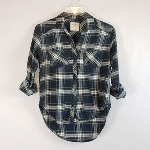 Abercrombie & Fitch | Hi Lo Plaid Button Down Smal